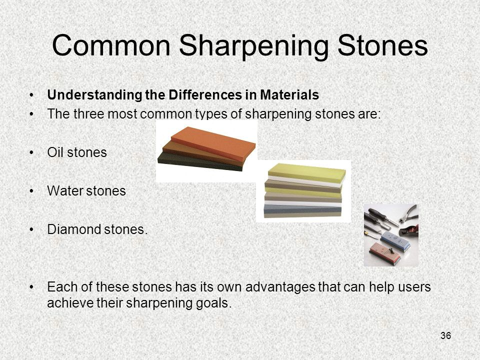 Common Sharpening Stones