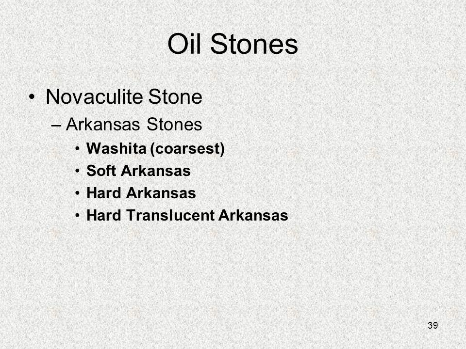 Oil Stones Novaculite Stone Arkansas Stones Washita (coarsest)
