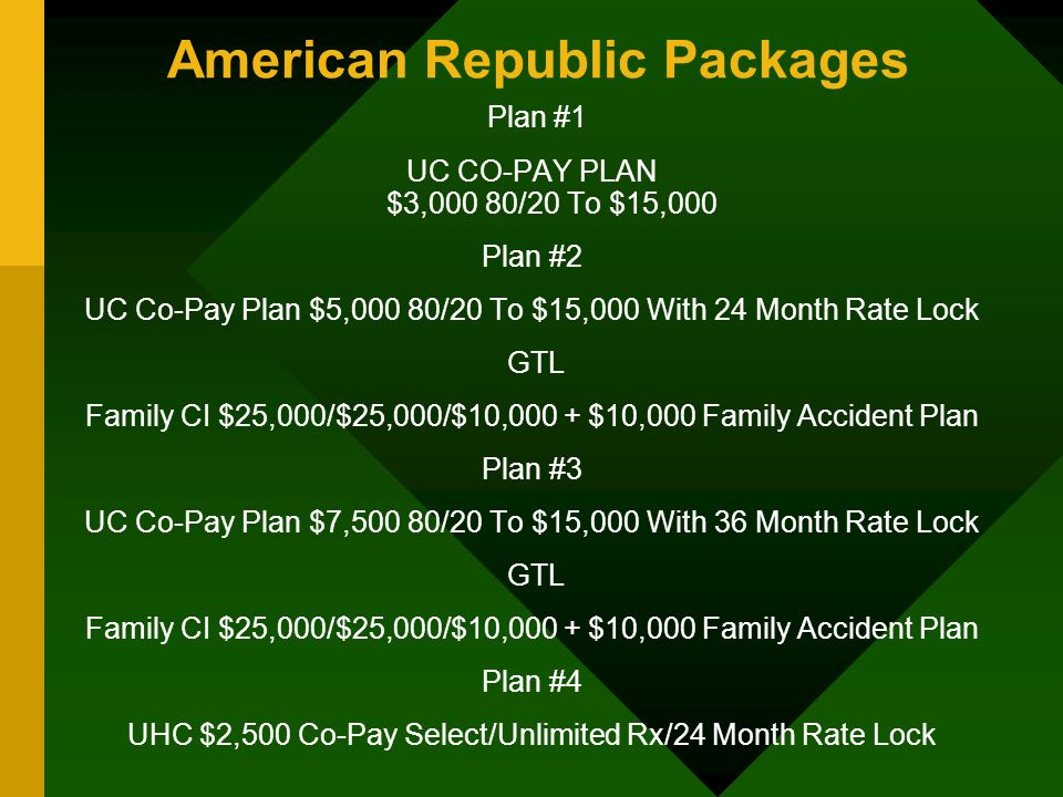 American Republic Packages