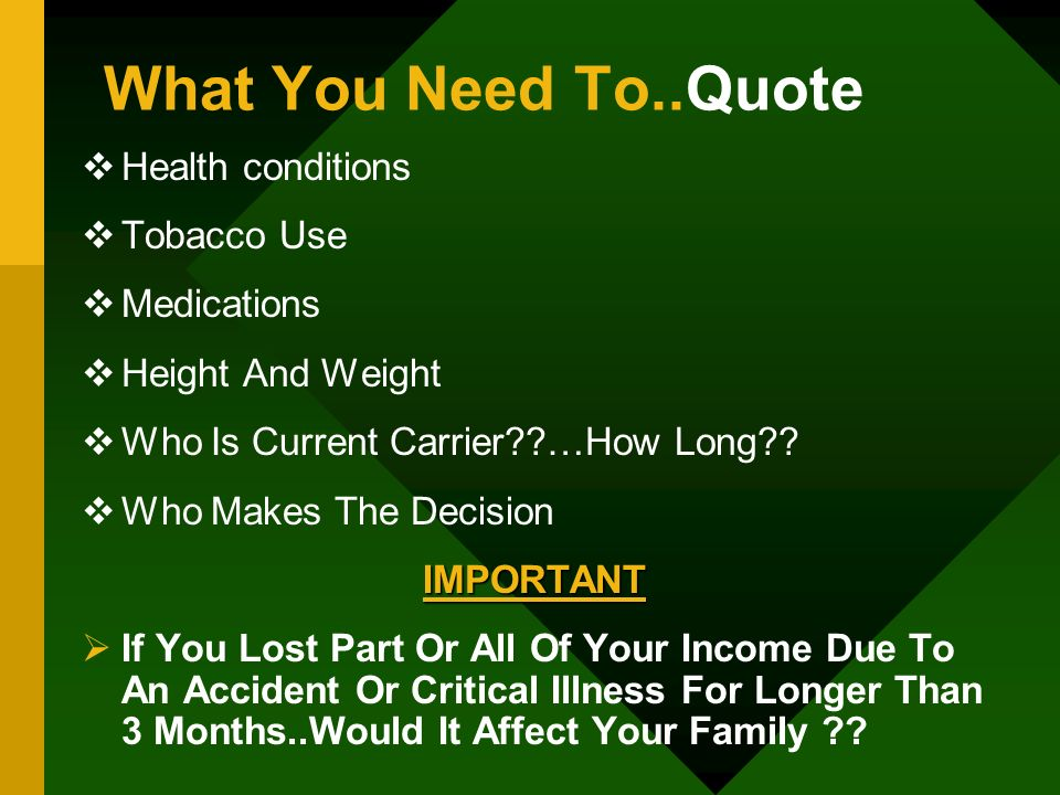 What You Need To..Quote Health conditions Tobacco Use Medications