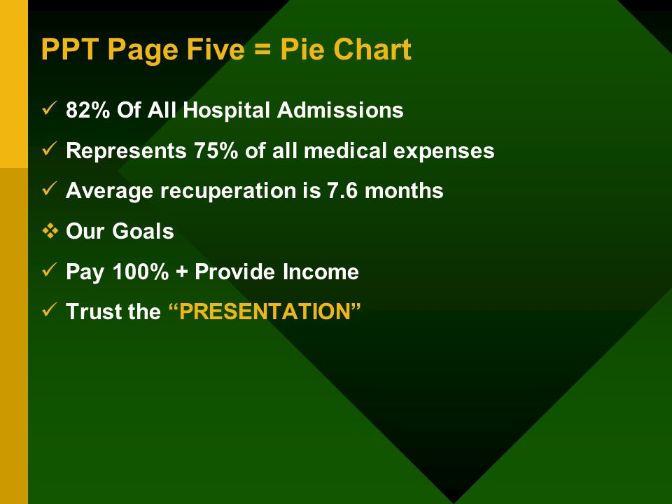 PPT Page Five = Pie Chart