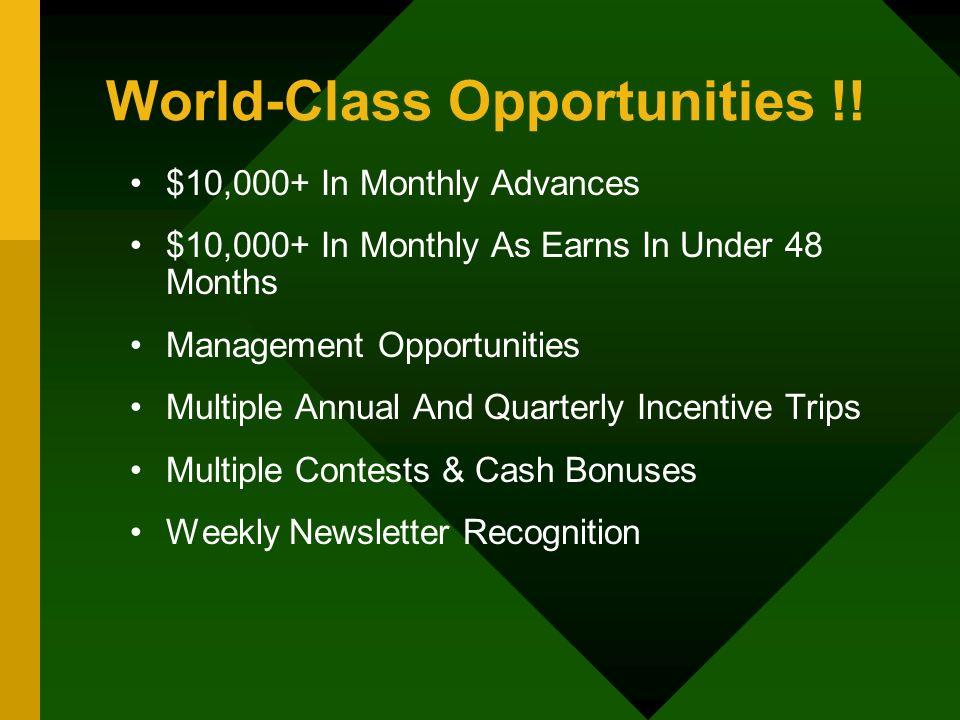 World-Class Opportunities !!