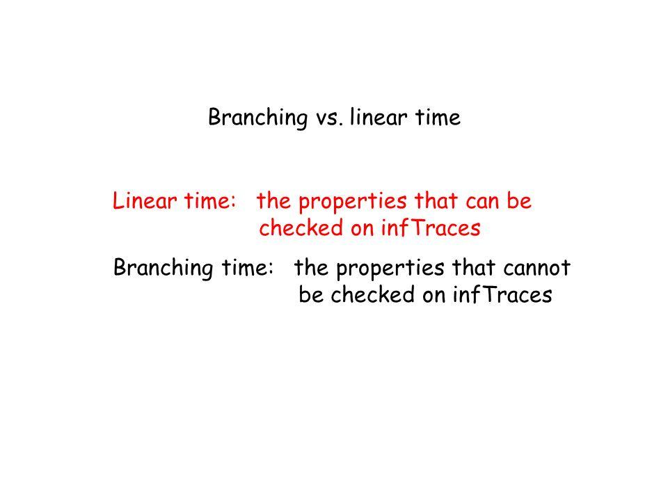 Branching vs. linear time