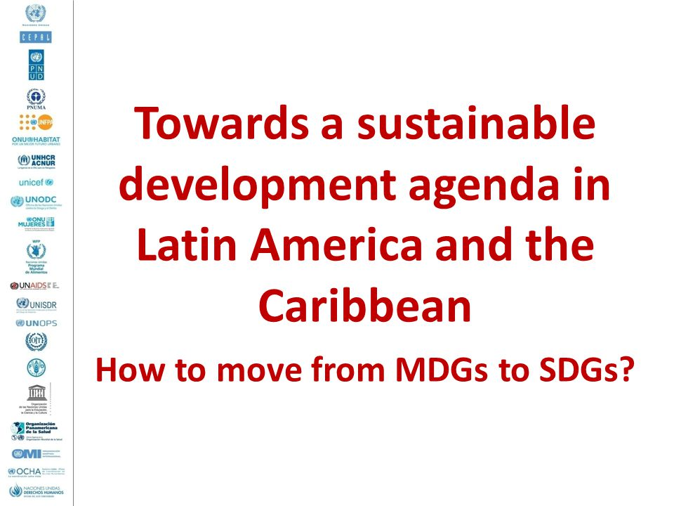 How to move from MDGs to SDGs