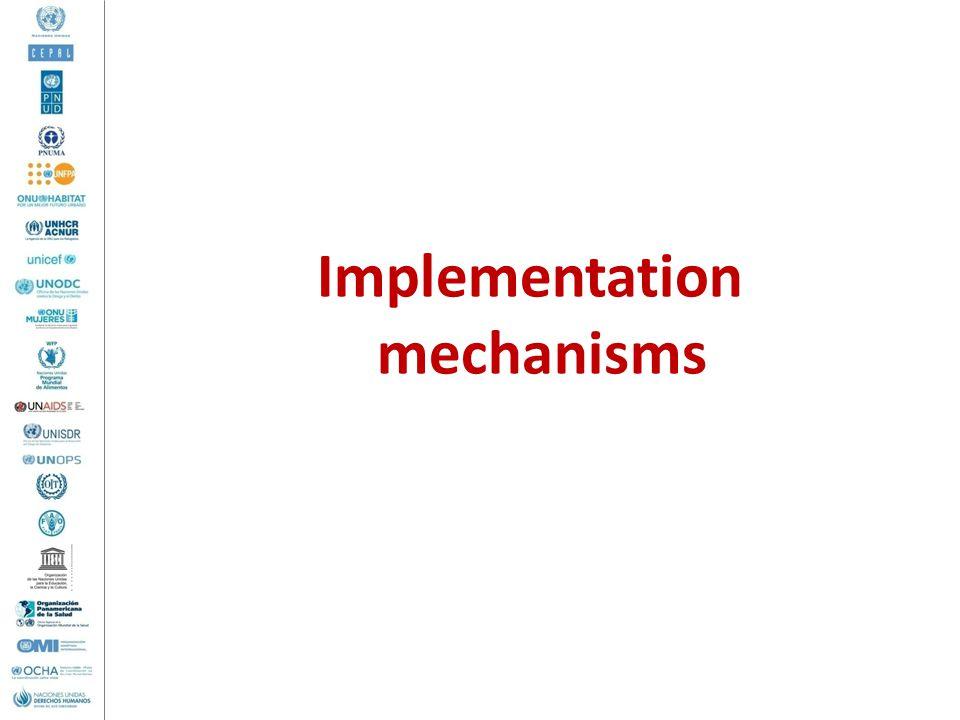 Implementation mechanisms