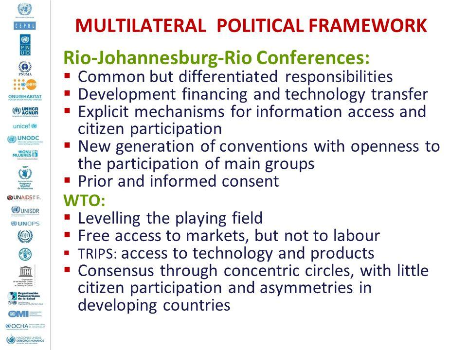MULTILATERAL POLITICAL FRAMEWORK