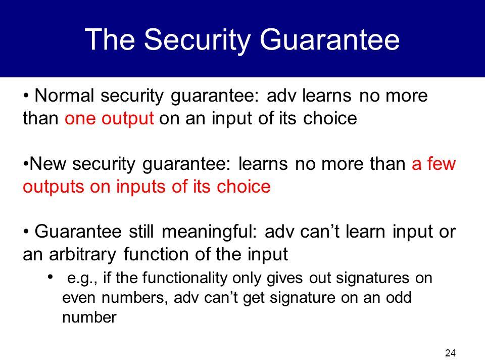 The Security Guarantee