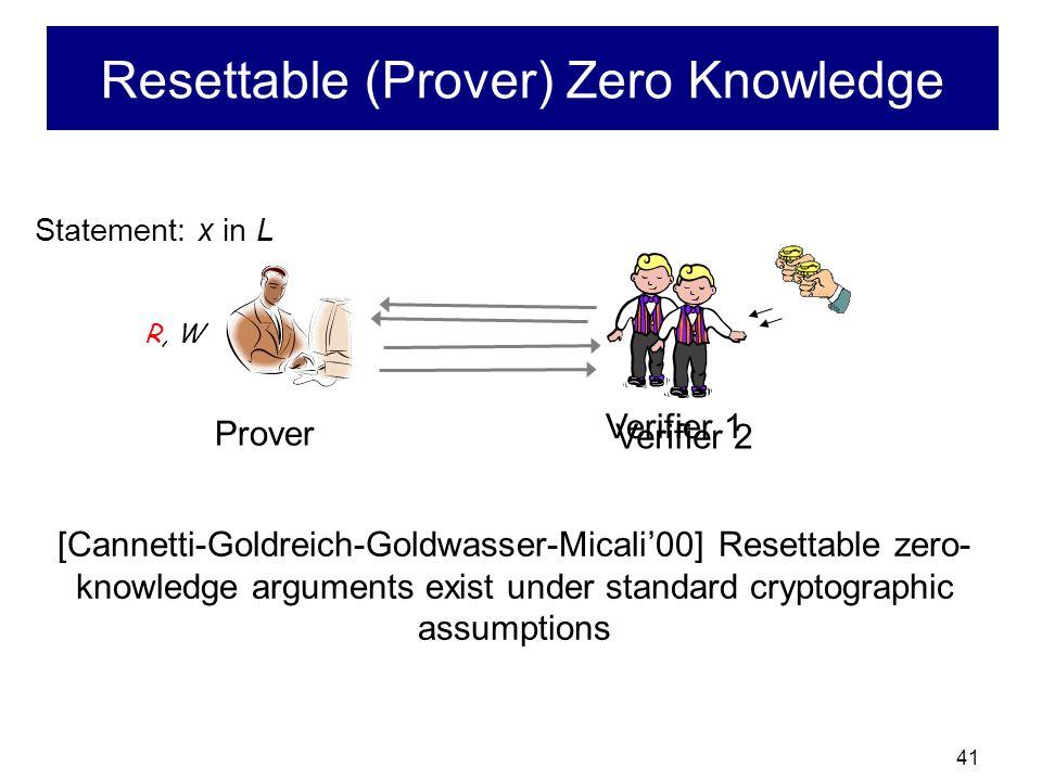 Resettable (Prover) Zero Knowledge