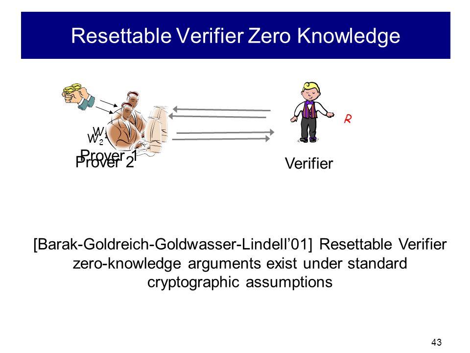 Resettable Verifier Zero Knowledge