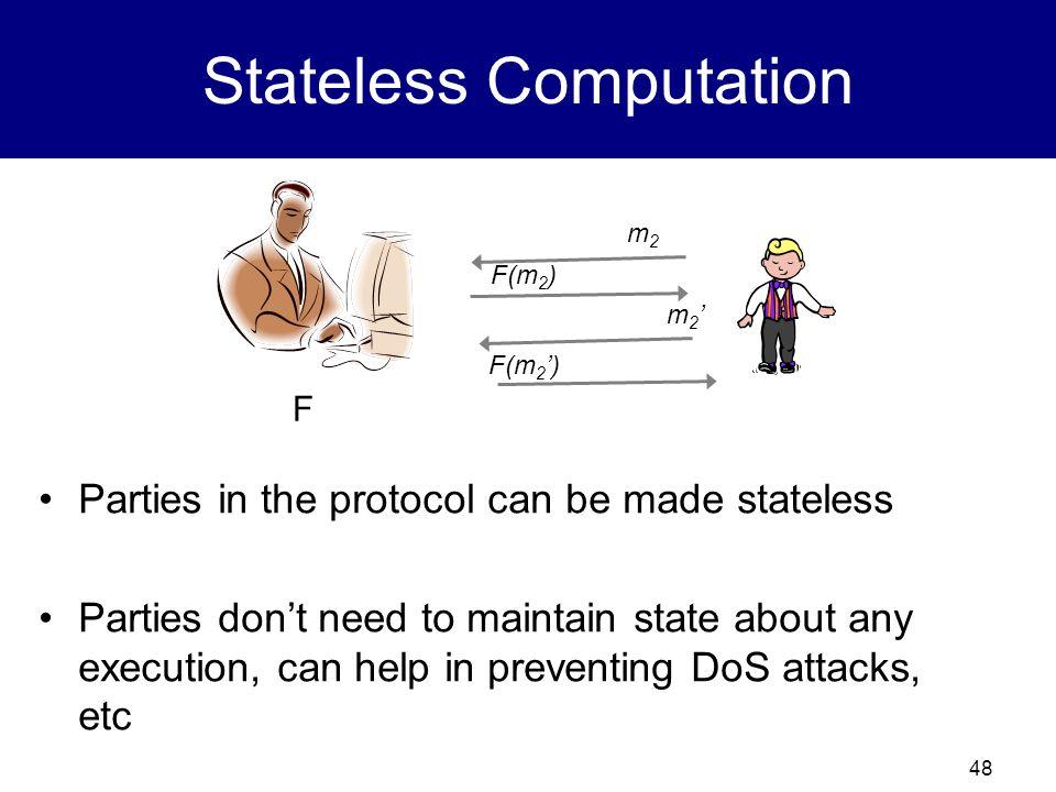 Stateless Computation