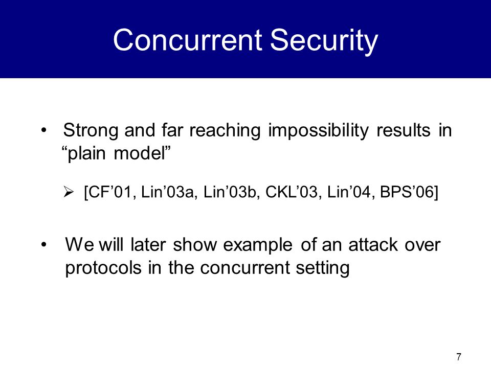 Concurrent Security Strong and far reaching impossibility results in