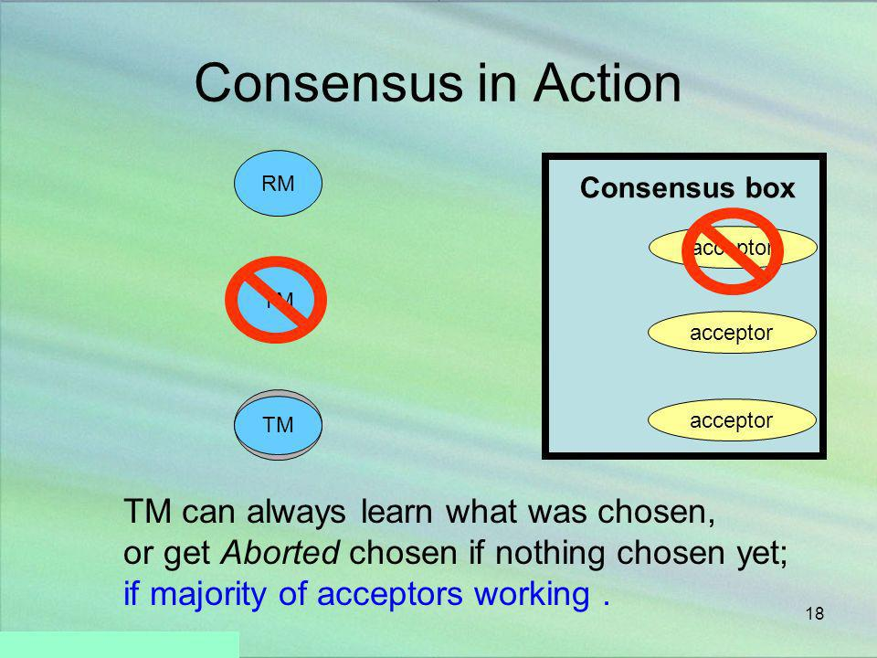 Consensus in Action TM can always learn what was chosen,
