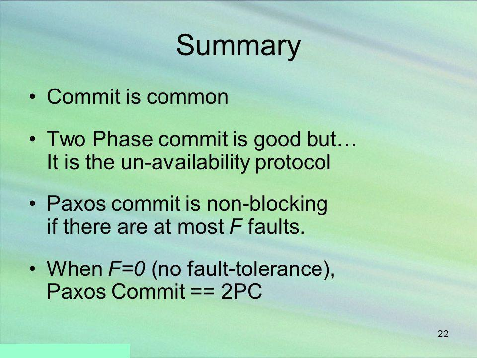 Summary Commit is common