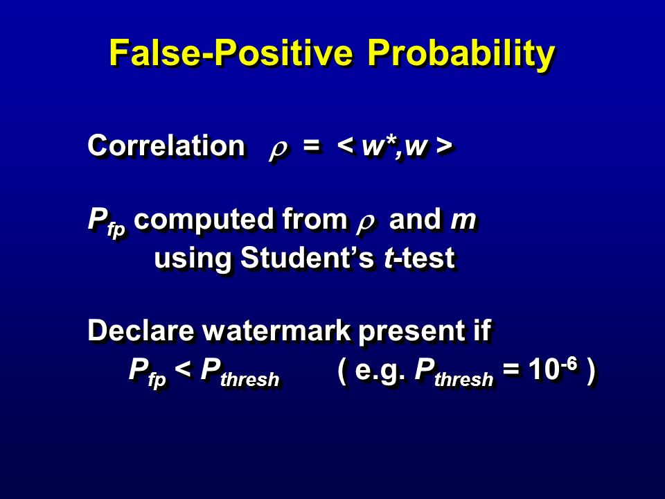 False-Positive Probability