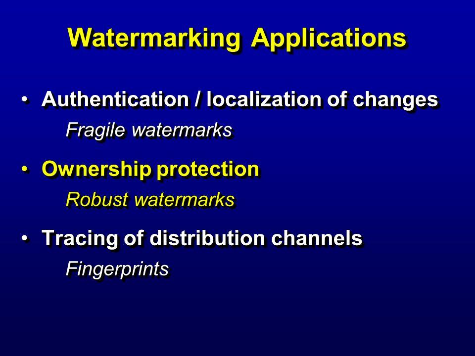 Watermarking Applications