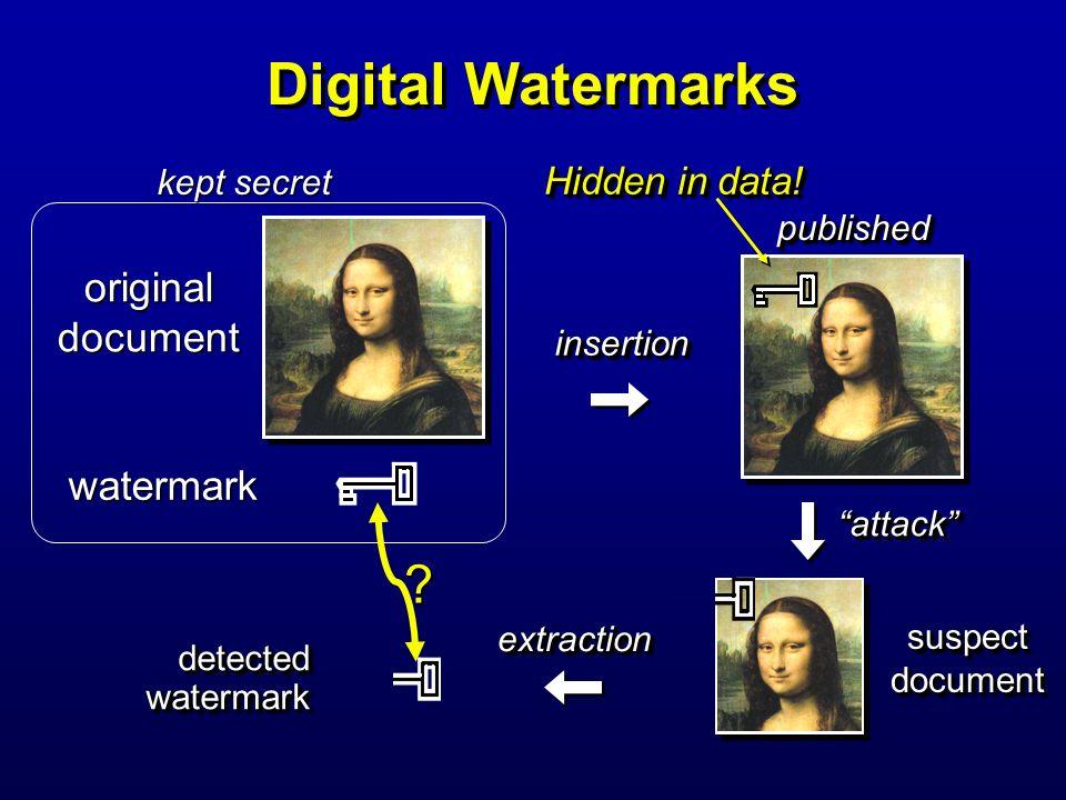 Digital Watermarks original document watermark Hidden in data!