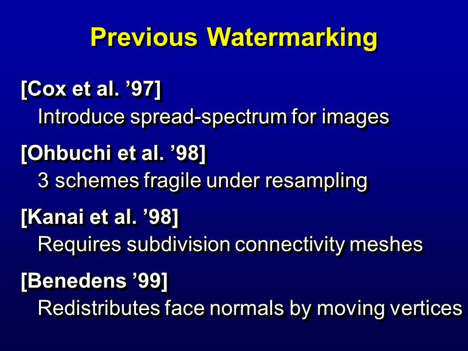 Previous Watermarking