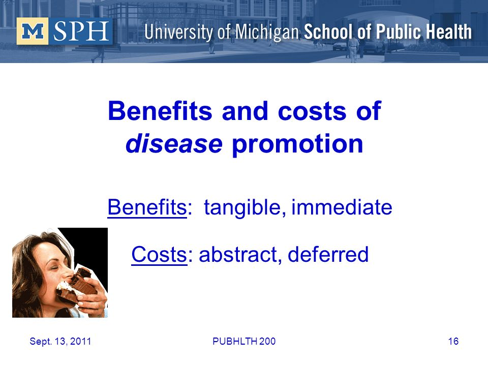 Benefits and costs of disease promotion