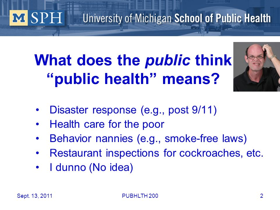 What does the public think public health means