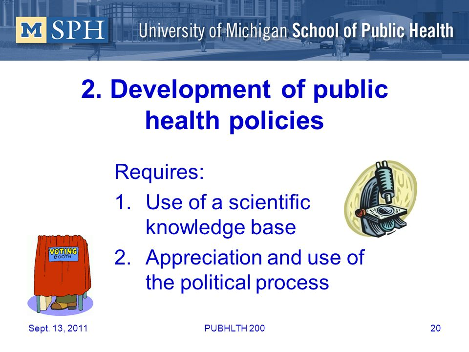 2. Development of public health policies