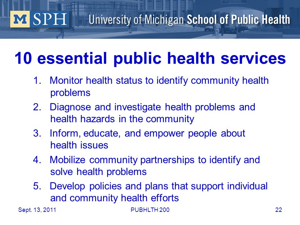 10 essential public health services