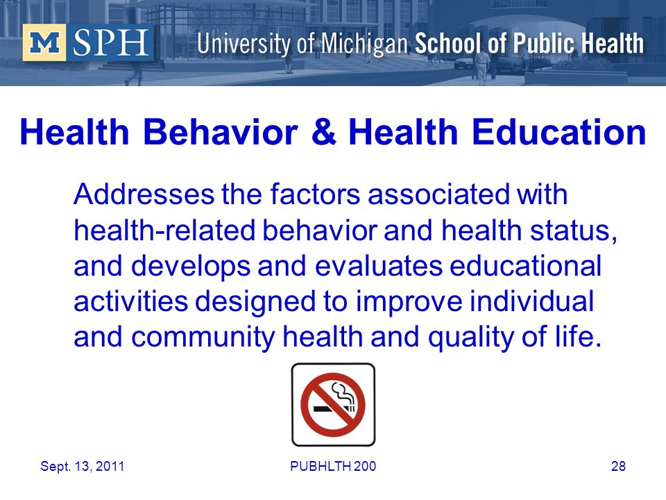 Health Behavior & Health Education