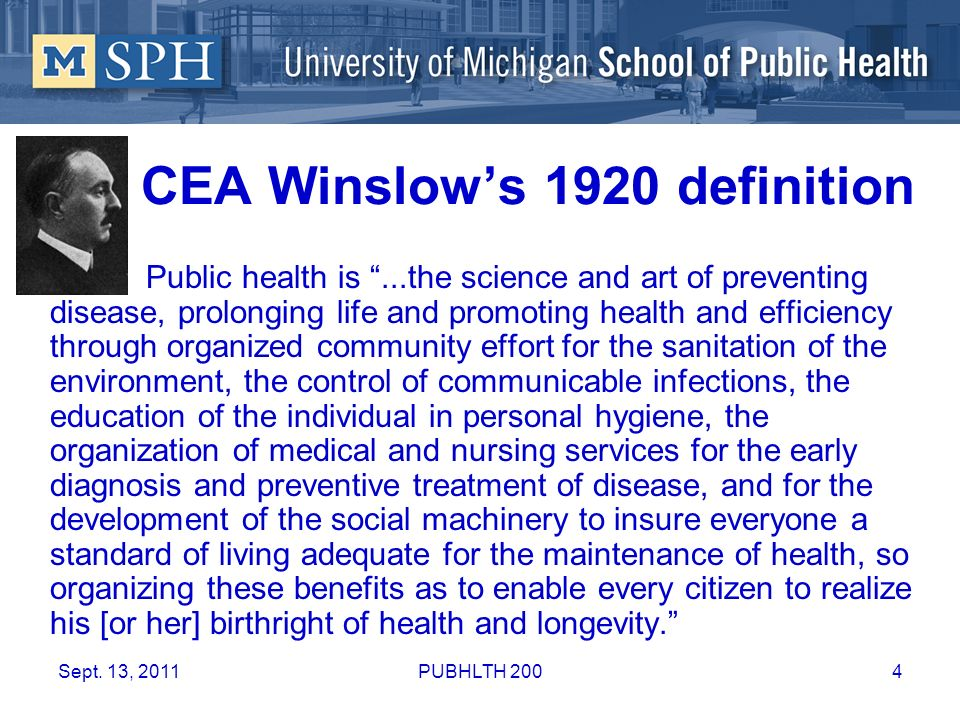 CEA Winslow's 1920 definition