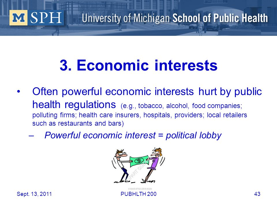 3. Economic interests