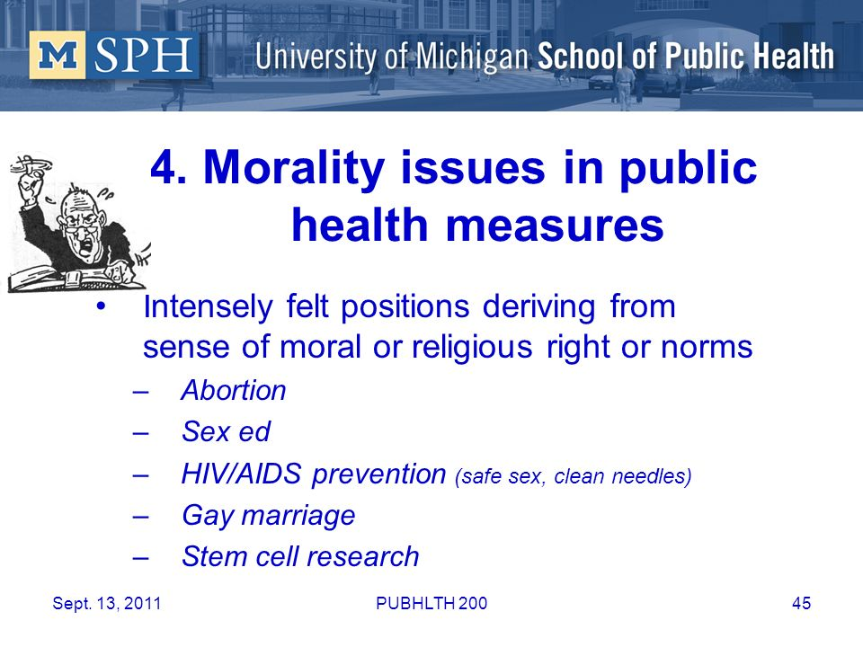 4. Morality issues in public health measures