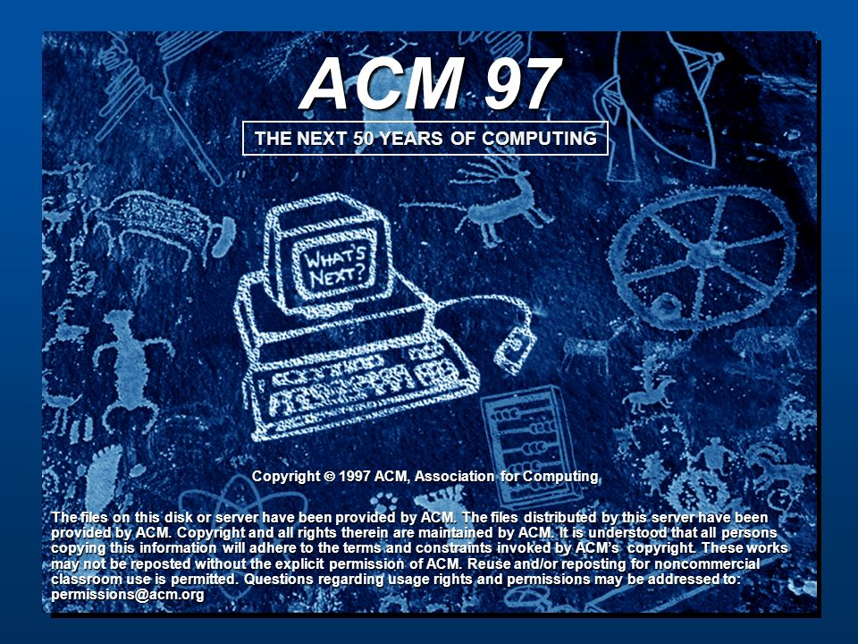 ACM 97 Copyright  1997 ACM, Association for Computing