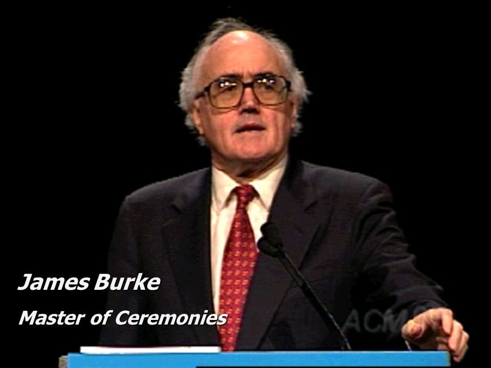James Burke Master of Ceremonies