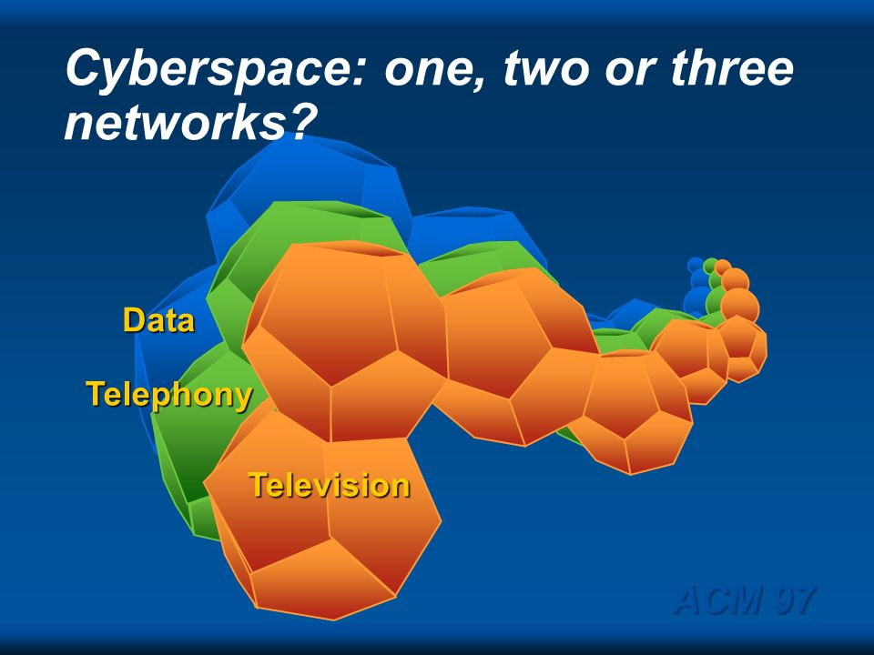 Cyberspace: one, two or three networks