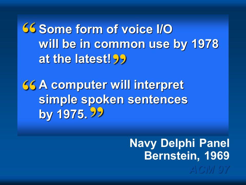 Navy Delphi Panel Bernstein, 1969