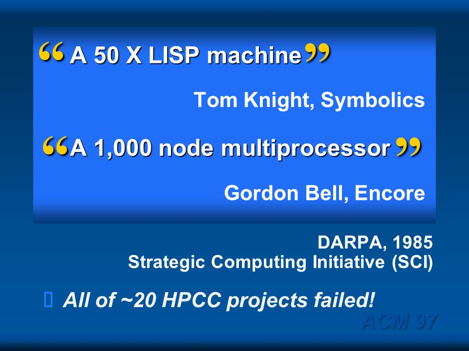 DARPA, 1985 Strategic Computing Initiative (SCI)