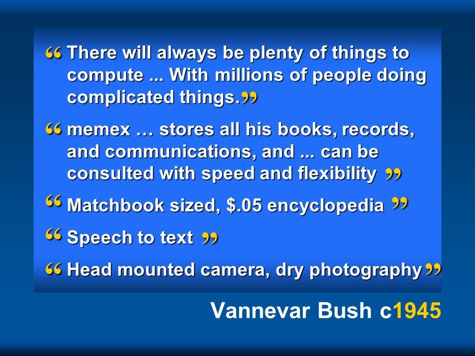 Vannevar Bush c1945