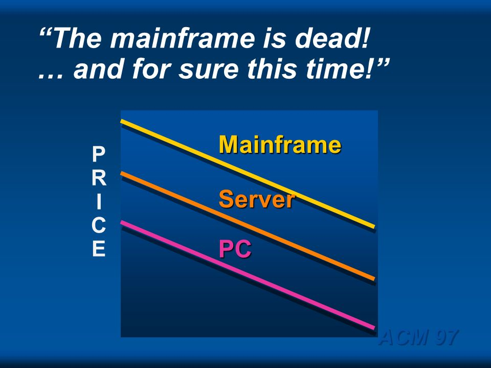 The mainframe is dead! … and for sure this time!