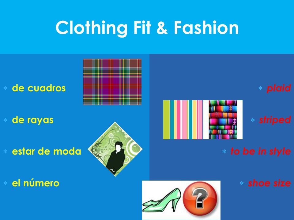 Clothing Fit & Fashion de cuadros de rayas estar de moda el número