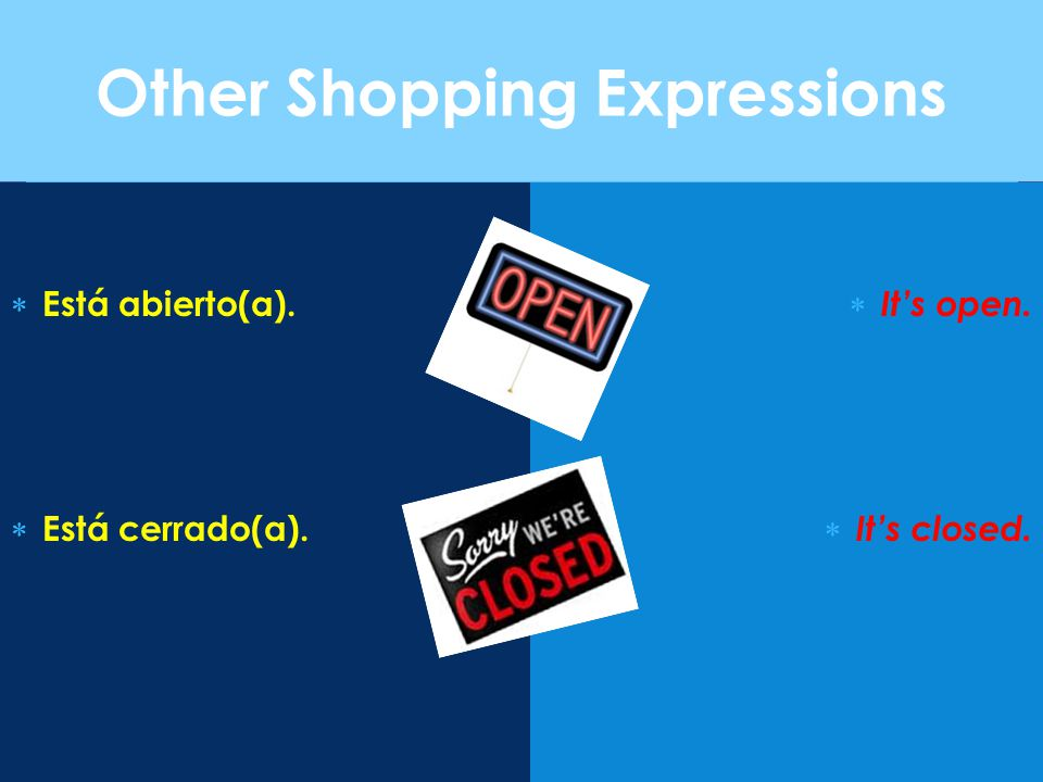Other Shopping Expressions
