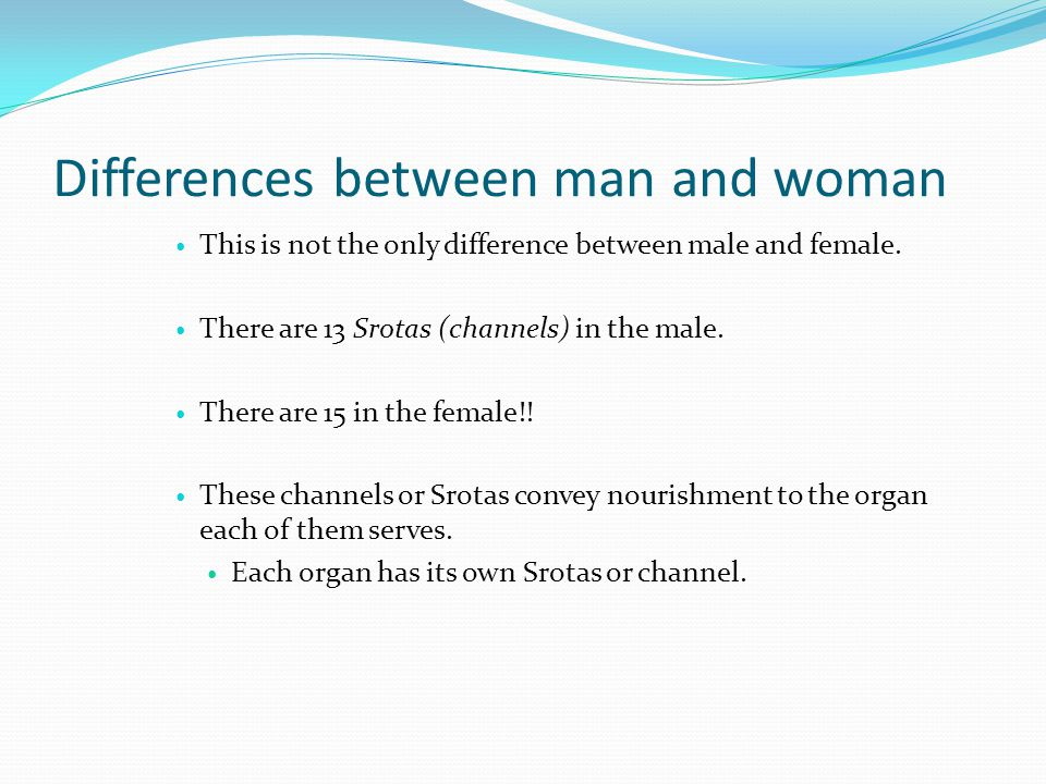Differences between man and woman