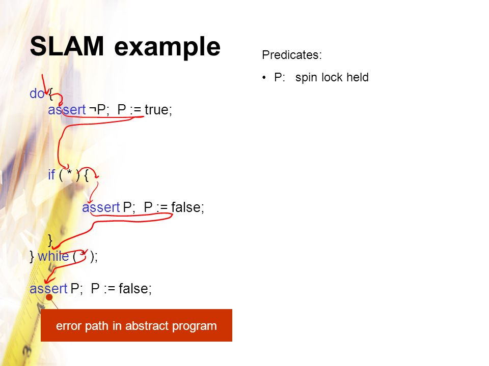 error path in abstract program