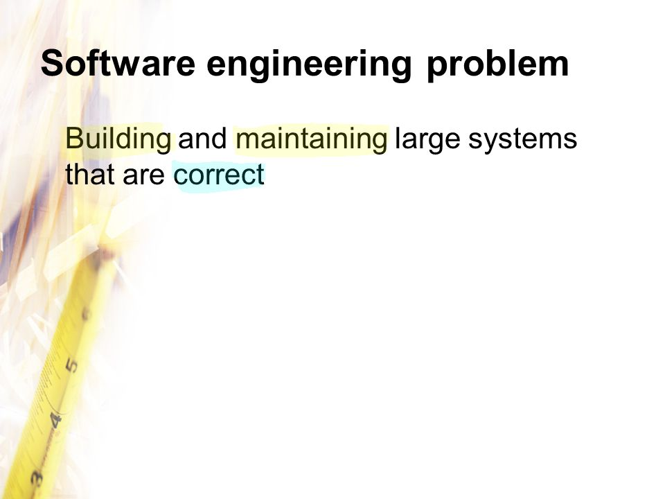 Software engineering problem