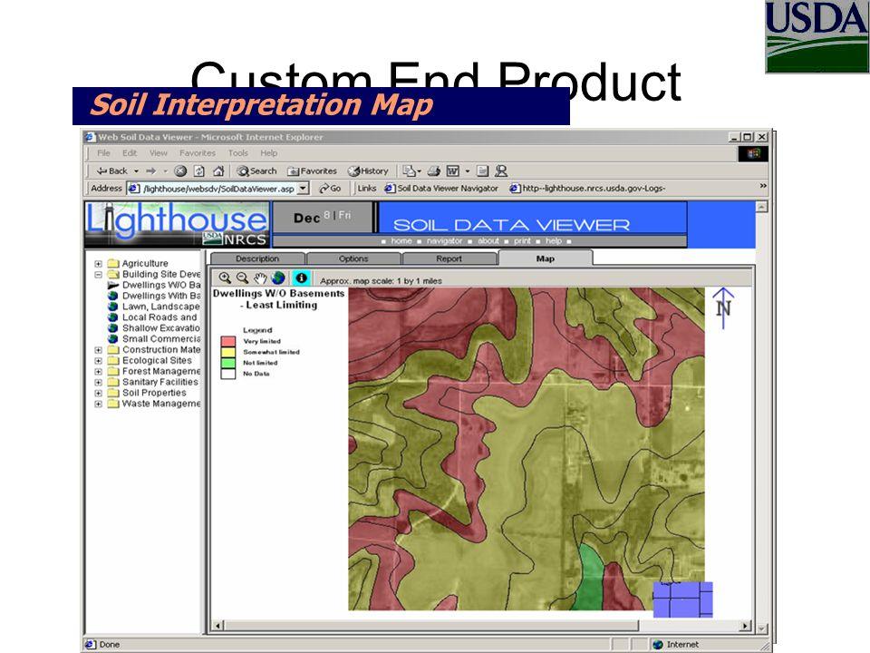 Custom End Product Soil Interpretation Map Web Soil Data Viewer