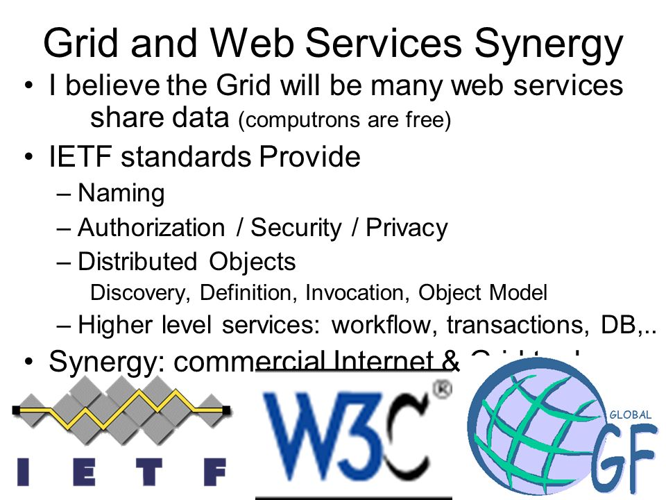 Grid and Web Services Synergy