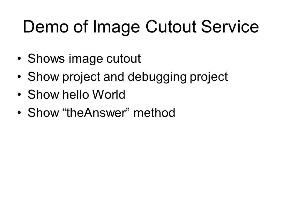 Demo of Image Cutout Service