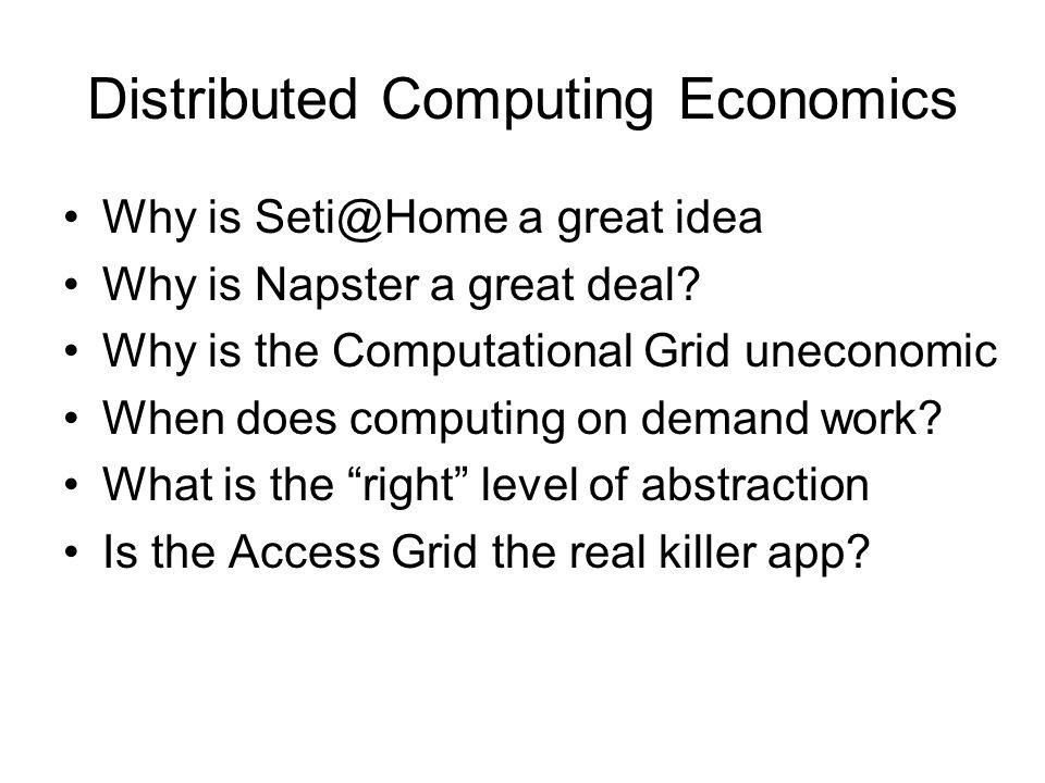 Distributed Computing Economics