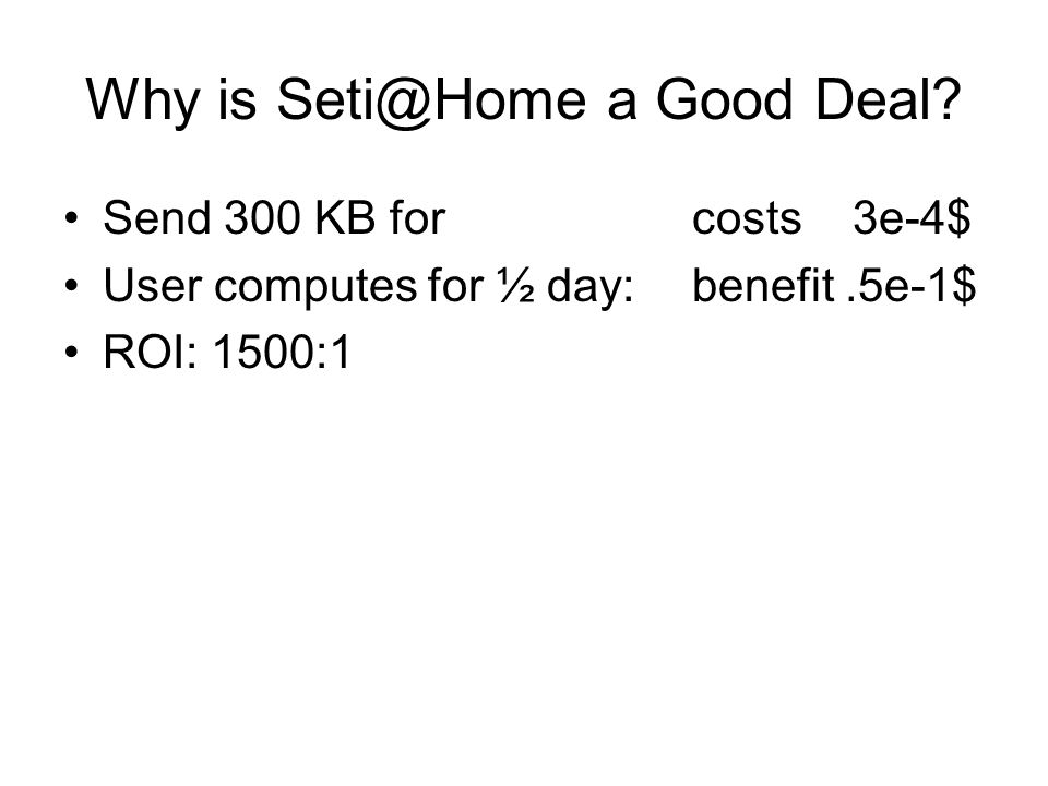 Why is a Good Deal