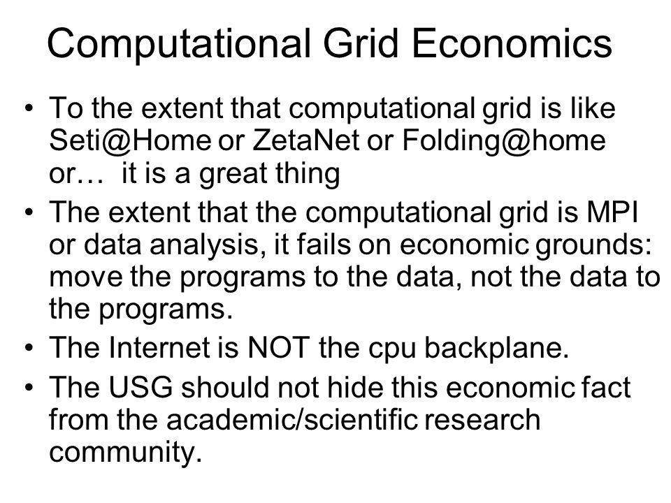 Computational Grid Economics