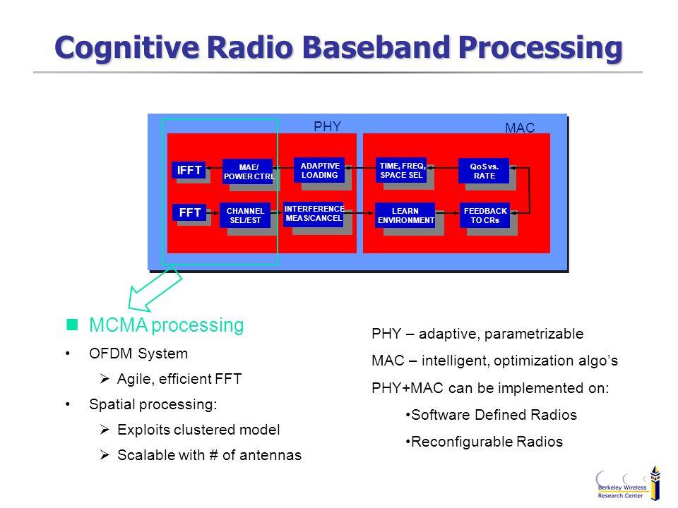 Cognitive Radio Baseband Processing
