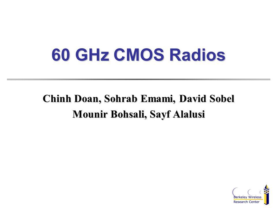 Chinh Doan, Sohrab Emami, David Sobel Mounir Bohsali, Sayf Alalusi