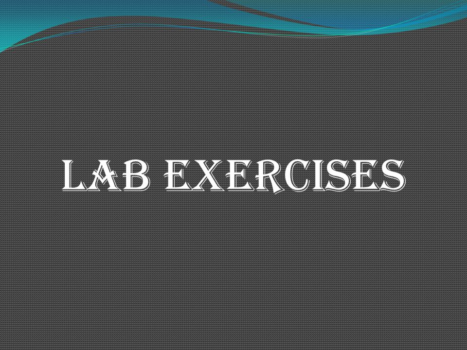 LAB exercises